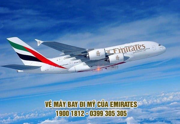 Vé máy bay đi Mỹ của Emirates Airlines