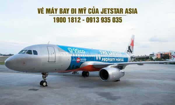 Vé máy bay đi Mỹ của Jetstar Asia