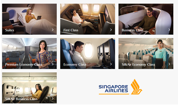 Vé máy bay đi Mỹ của Singapore Airlines