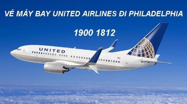 Vé máy bay United Airlines đi Philadelphia